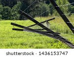 Broken Metal Chain Fence On...