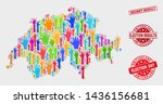election switzerland map and... | Shutterstock .eps vector #1436156681