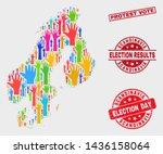 election scandinavia map and... | Shutterstock .eps vector #1436158064