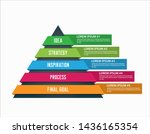 colored pyramid infographics... | Shutterstock .eps vector #1436165354