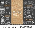restaurant cafe menu  template...   Shutterstock .eps vector #1436172761