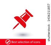 vector push pin icon  pushpin... | Shutterstock .eps vector #1436211857