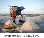 Worker At Salt Extraction In...
