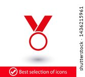 medal icon  web design. medal... | Shutterstock .eps vector #1436215961