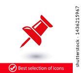vector push pin icon  pushpin... | Shutterstock .eps vector #1436215967