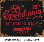 vintage motorbike race   hand... | Shutterstock .eps vector #143624395