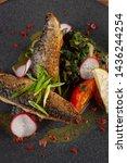 close up of fried mackerel fish ...   Shutterstock . vector #1436244254