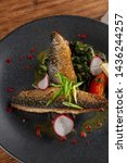close up of fried mackerel fish ...   Shutterstock . vector #1436244257