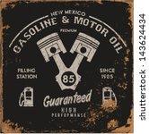 vintage gasoline   motor oil | Shutterstock .eps vector #143624434