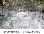 ice cave grotto on olkhon... | Shutterstock . vector #1436259497