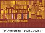 cnc laser cut pattern design... | Shutterstock .eps vector #1436264267