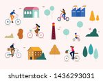 family with kids  playing with... | Shutterstock .eps vector #1436293031