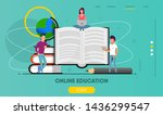 studying and education landing... | Shutterstock .eps vector #1436299547