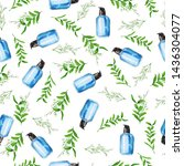 seamless pattern with blue...   Shutterstock . vector #1436304077