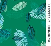 tropical vector background for... | Shutterstock .eps vector #1436333864