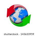 internet upload and download. ... | Shutterstock . vector #143633959