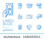 lineo blue   shopping and e...   Shutterstock .eps vector #1436352011