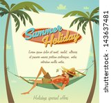 summer holiday. retro bacground | Shutterstock .eps vector #143637481