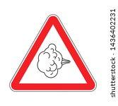 attention fart. warning red... | Shutterstock .eps vector #1436402231