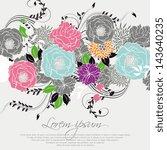 wedding invitation card | Shutterstock .eps vector #143640235