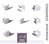 korean isometric font elements. ...