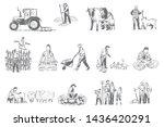 farming business  rural economy ...   Shutterstock .eps vector #1436420291