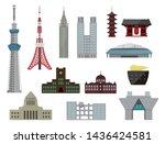 tokyo landmark buildings  tower ...   Shutterstock .eps vector #1436424581
