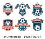 emblem of football theme. sport ... | Shutterstock . vector #1436440784