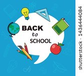 card back to school. education... | Shutterstock .eps vector #1436444084