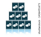 stack of olive cans icon.... | Shutterstock .eps vector #1436451671