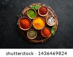 Colorful Herbs And Spices For...