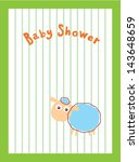 baby sheep shower | Shutterstock .eps vector #143648659