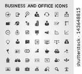 office and business icons set ... | Shutterstock .eps vector #143648815