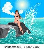 beautiful woman and the sea....