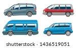 minivan car van auto vehicle... | Shutterstock . vector #1436519051