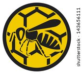 honey bee icon  symbol  | Shutterstock . vector #143656111