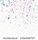 lots of colorful tiny confetti... | Shutterstock .eps vector #1436568737