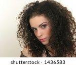 brunette girl with attractive... | Shutterstock . vector #1436583