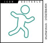 human runner icon isolated sign ... | Shutterstock .eps vector #1436586404