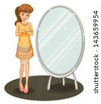 illustration of a pretty girl... | Shutterstock .eps vector #143659954