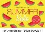 summer sale banner  hot season... | Shutterstock .eps vector #1436609294