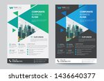 corporate business flyer poster ... | Shutterstock .eps vector #1436640377