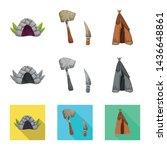 vector design of evolution and... | Shutterstock .eps vector #1436648861