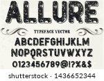 typeface alphabet font script... | Shutterstock .eps vector #1436652344