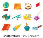 science and geography tool set  ... | Shutterstock .eps vector #1436709374