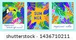 set of summer vector...   Shutterstock .eps vector #1436710211