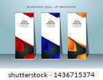 creative modern roll up banner. ... | Shutterstock .eps vector #1436715374