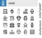 set of vase icons such as... | Shutterstock .eps vector #1436764487