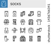 set of socks icons such as...   Shutterstock .eps vector #1436766341
