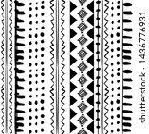 ethno stipes seamless geometric ... | Shutterstock .eps vector #1436776931